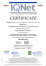 UNI EN ISO 9001 2015 Certification